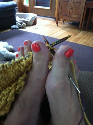 toe knitting